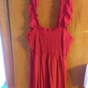 Red dress cover up